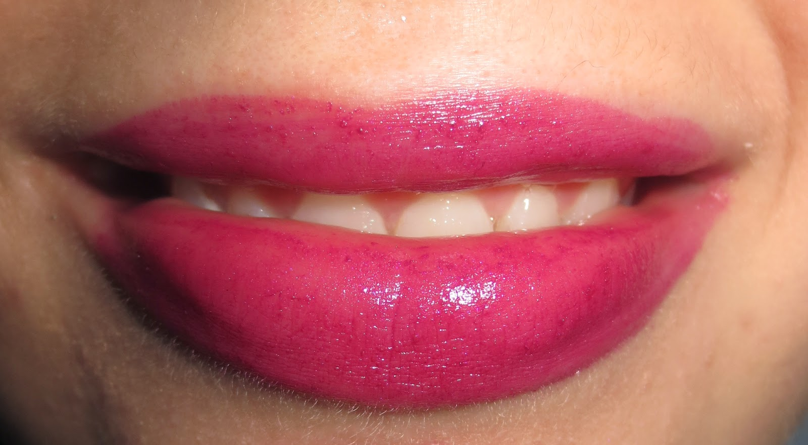 Smashbox Be Legendary Lipstick in Vivid Violet on lips