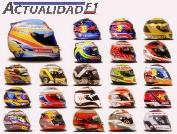 cascos pilotos f1 2013