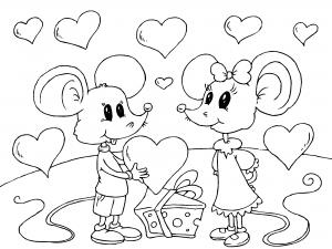 Dibujos de San Valentin para Colorear, parte 3