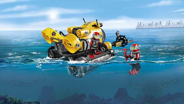 лего сити подводная лодка мультик