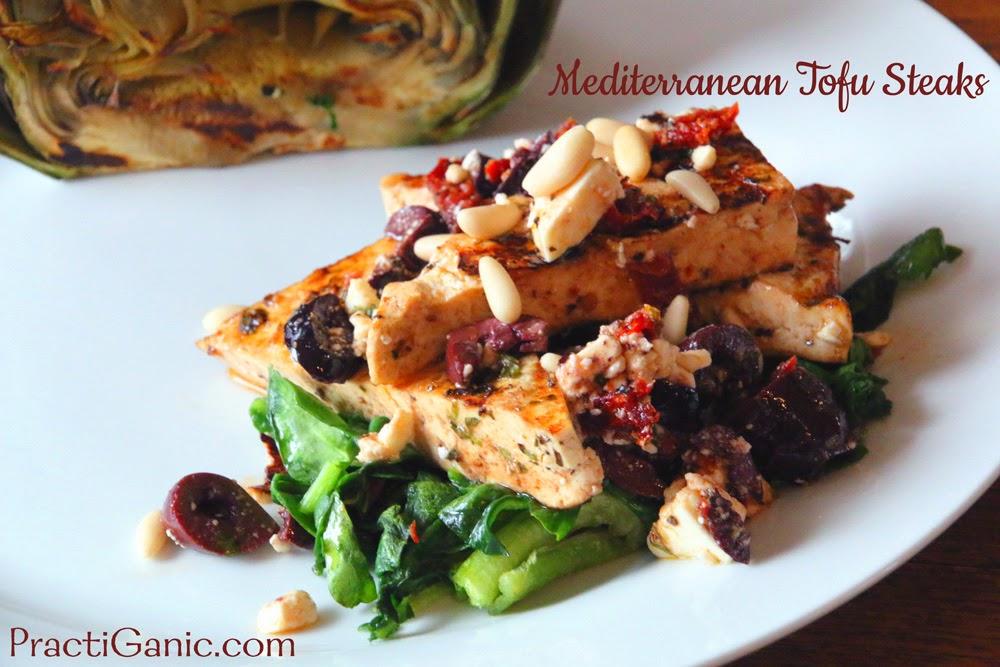 Grilled Mediterranean Tofu Steak