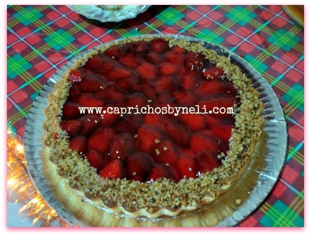 Torta de morango, doces, esmalte
