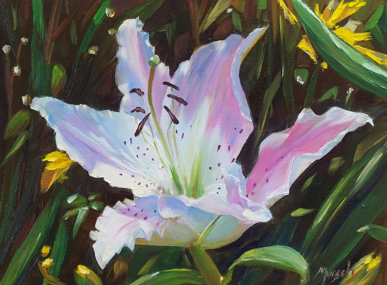 Donna munsch fine art small white oriental lily small white oriental lily izmirmasajfo