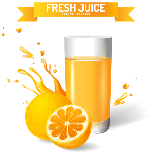 Zumo de naranja - Vector