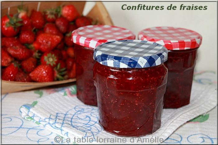 La table lorraine d 39 amelie confiture de fraises nature et - Confiture de fraises maison ...