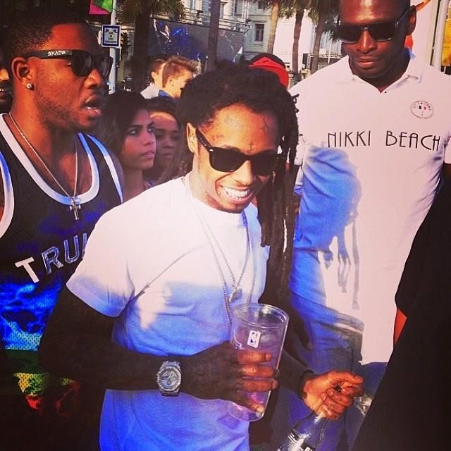 fotos de lil wayne euro mack maine dj scoob doo en el club nikki beach en francia cannes