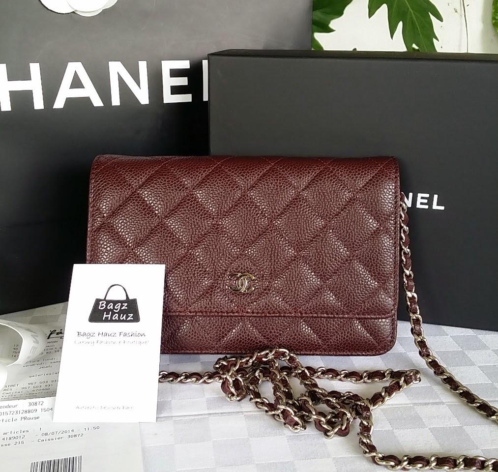 Bagz Hauz Fashion July 2014 Ysl Woc 19 Cm Nude Ghw Chanel Wallet On Chain In Caviar Color Burgundy For Evangelyn 1st Time Customer