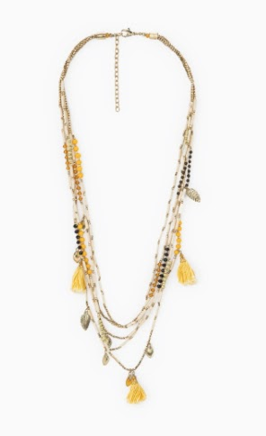 Mango Waterfall Tassel Necklace