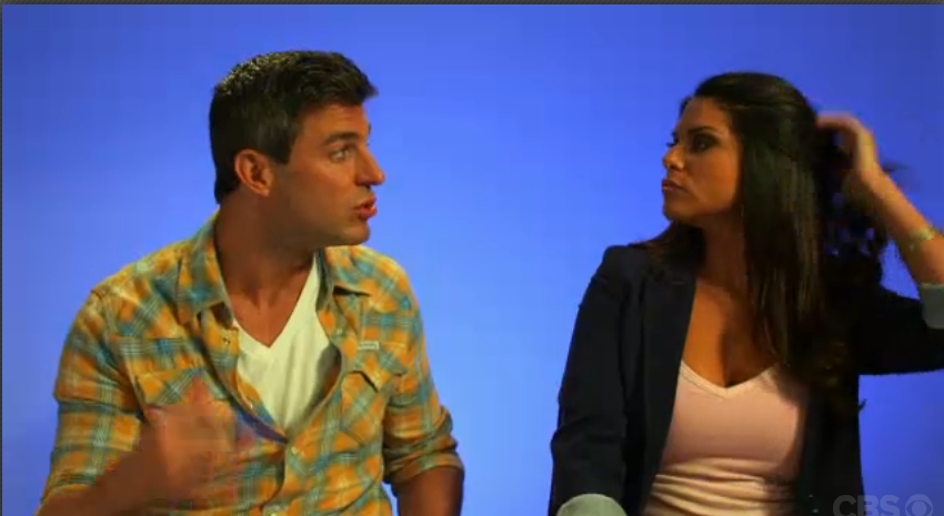 The whole time she is talking to Jeff, she can't keep her hands out of
