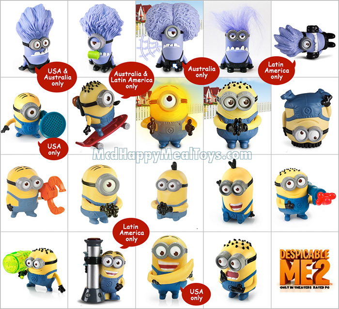 A comprehensive list of Despicable Me Minion toys available worldwide.