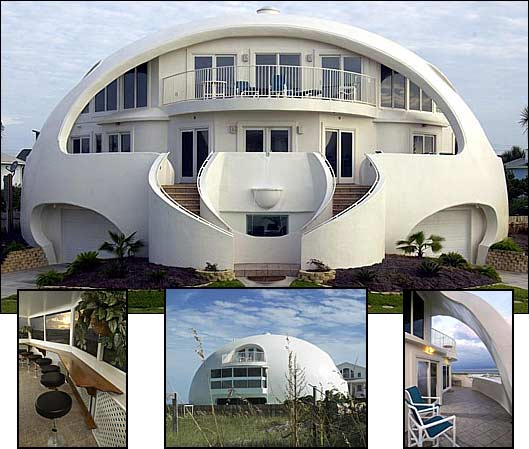 Home designs dome house florida for Concrete homes florida