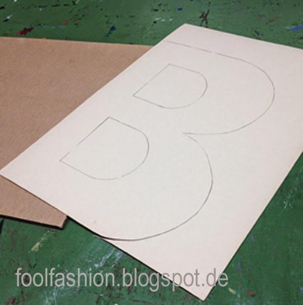 Tutorial: Metallbuchstabe aus Pappe