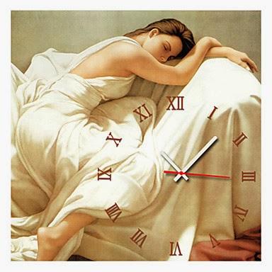 Reloj de Pared Mujer Durmiendo