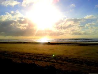 Um belo dia de sol na Praia do Cassino