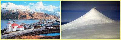 Islas Aleutianas + monte Shisnaidin