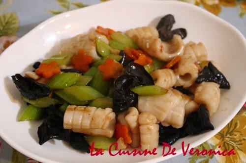 La Cuisine De Veronica 西芹雲耳炒鮮魷