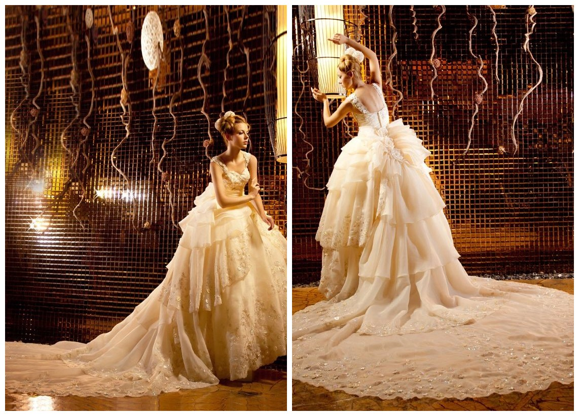WhiteAzalea Ball Gowns: Ball Gown Wedding Dresses with Cathedral Trains