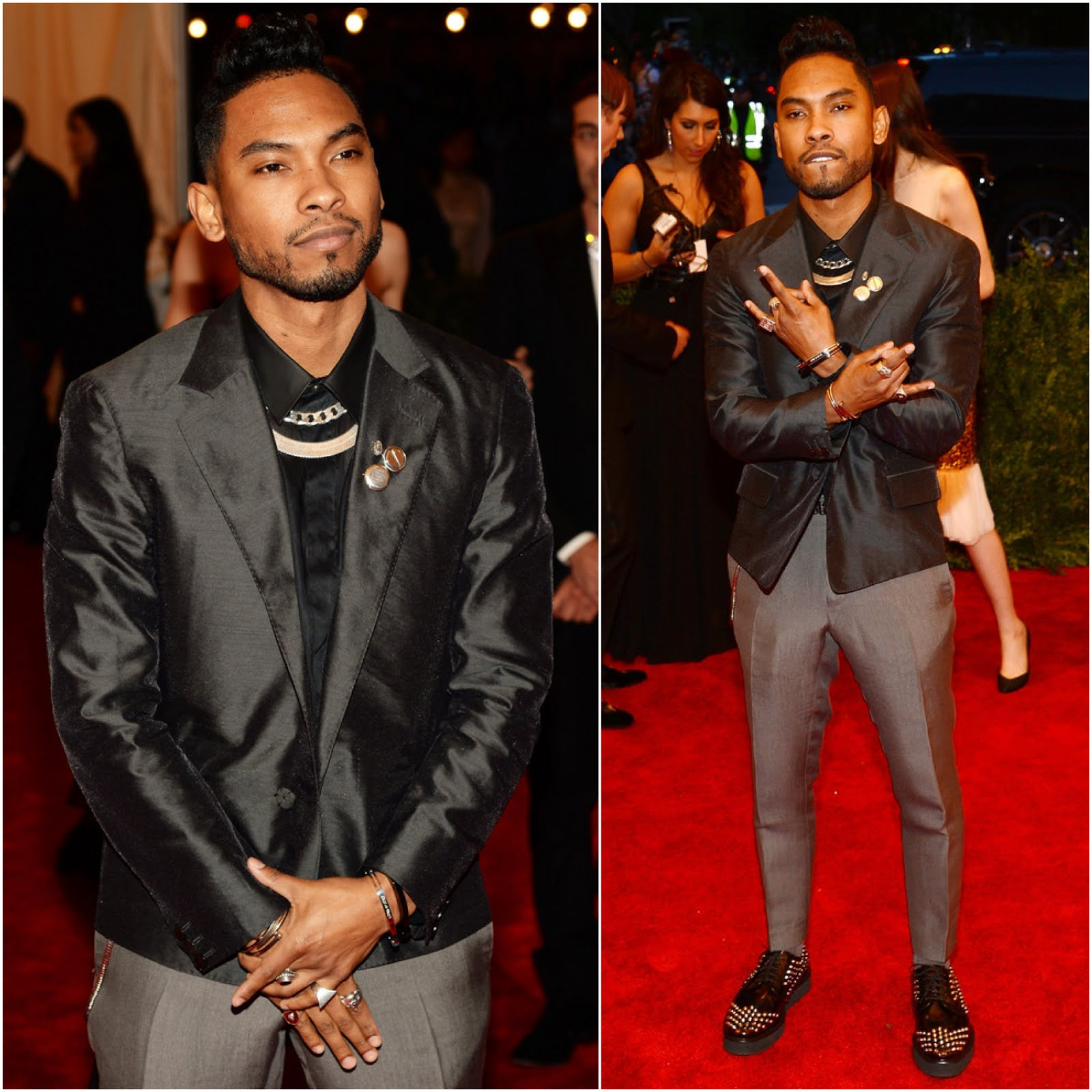 00O00 Menswear Blog: Miguel in Lanvin - 'PUNK: Chaos To Couture' Costume Gala