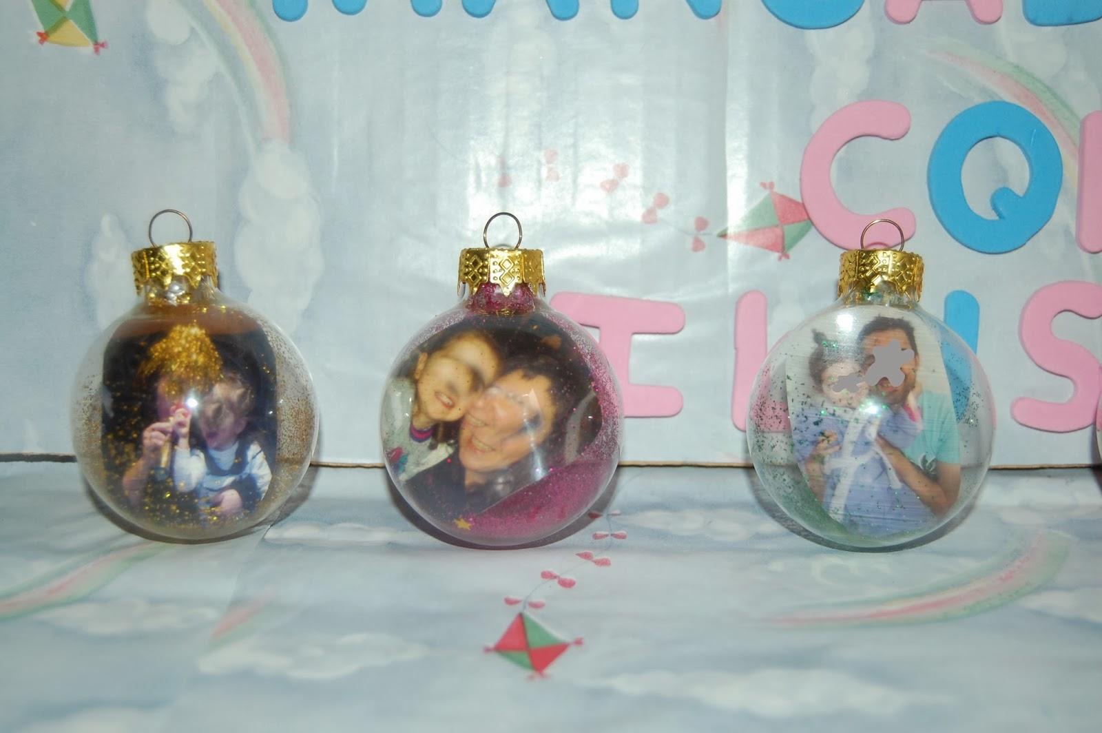 Manualidades con ilusion bolas de navidad personalizadas - Bolas navidad transparentes ...