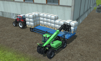 Loading seep wool pallets