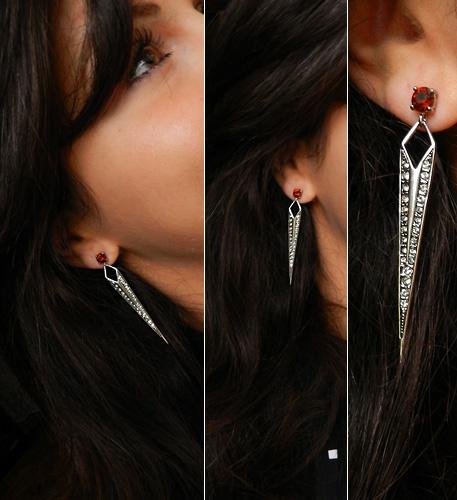 Jewelmint Burgundy Brilliance Earrings