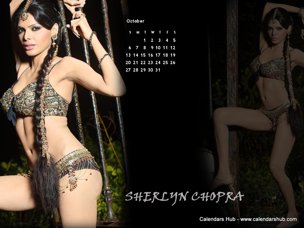 Sherlyn Chopra Calendar 2013