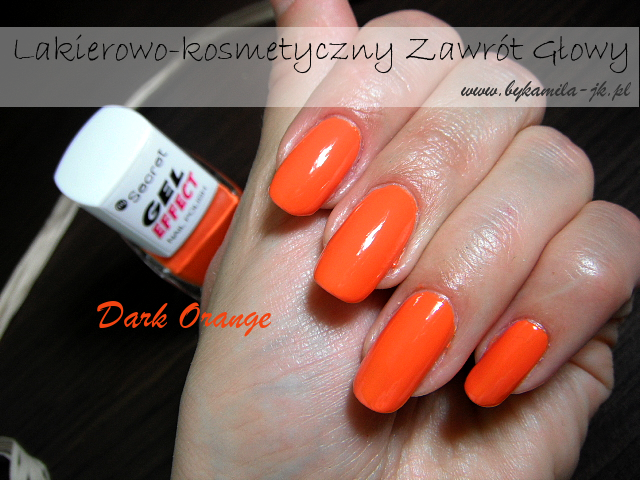 Lakier Gel Effect My Secret Dark Orange