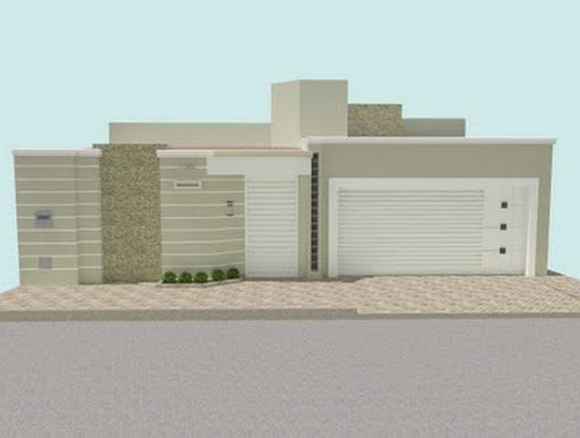 Fachadas de casas e muros veja modelos e dicas decor for Casa moderna 7x20
