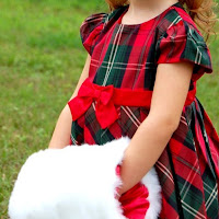 Plaid Flower Girl Dress with Christmas Muff