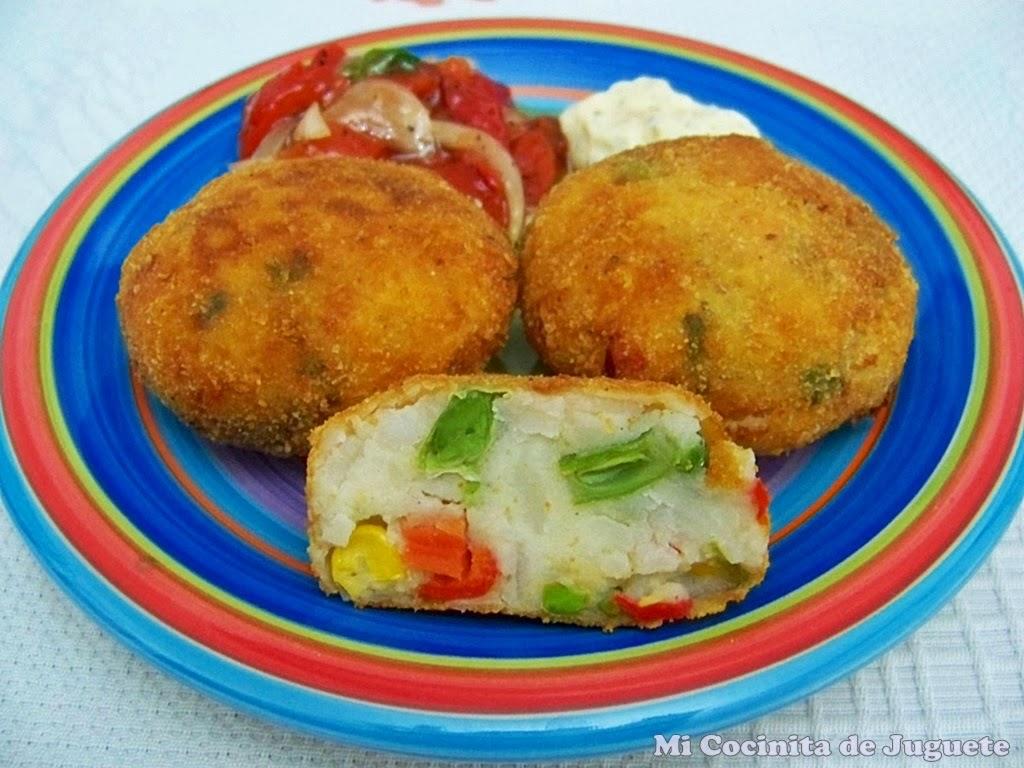 Mi cocinita de juguete hamburguesas de patata y verdura - Hamburguesa de verduras ...