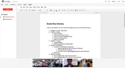Google+ Hangouts se integra con Google Docs