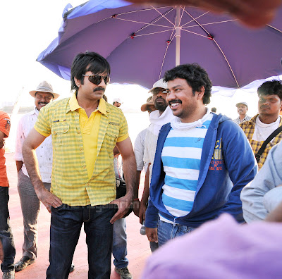 ravi teja veera movie working stills