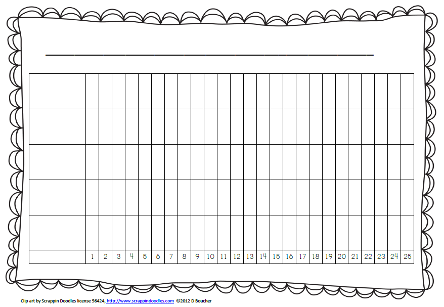 blank picture graph template - blank bar graph paper template