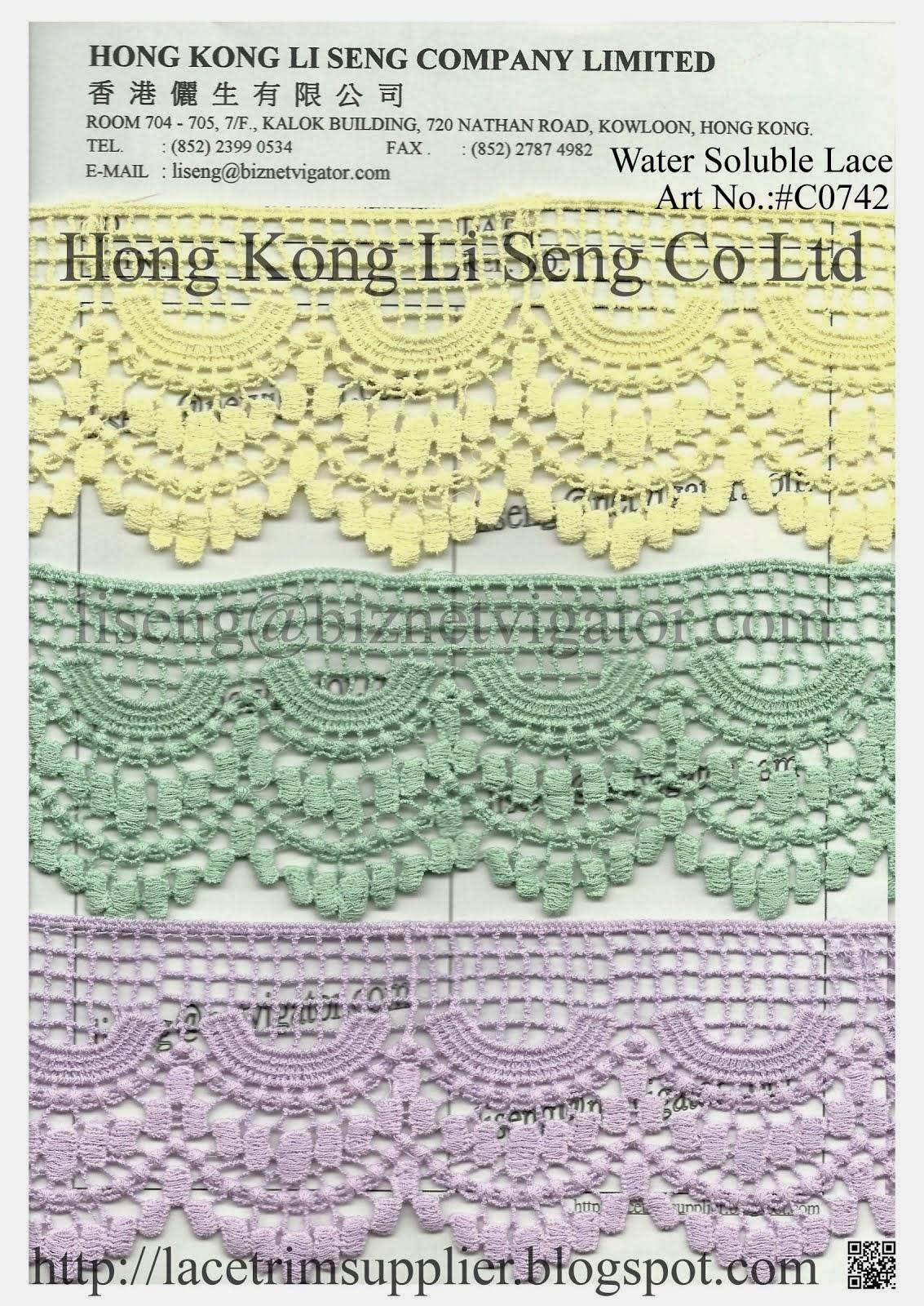 Dye to Match - Cotton Lace and Trims Manufacturer Wholesale Supplier - Hong Kong Li Seng Co Ltd