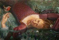 Finished painting of Ophelia.