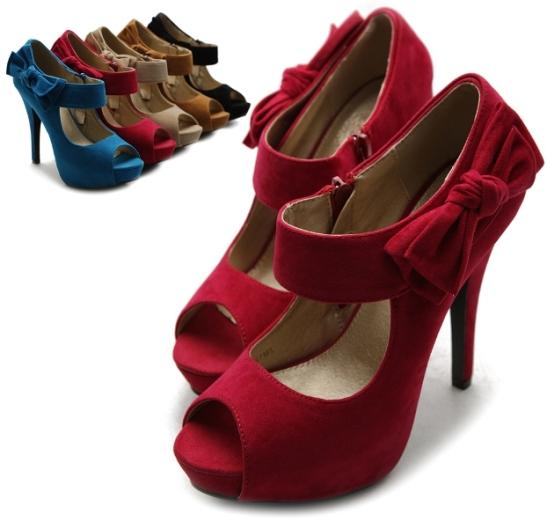 ollio womens pumps platform open toe high heels ribbon