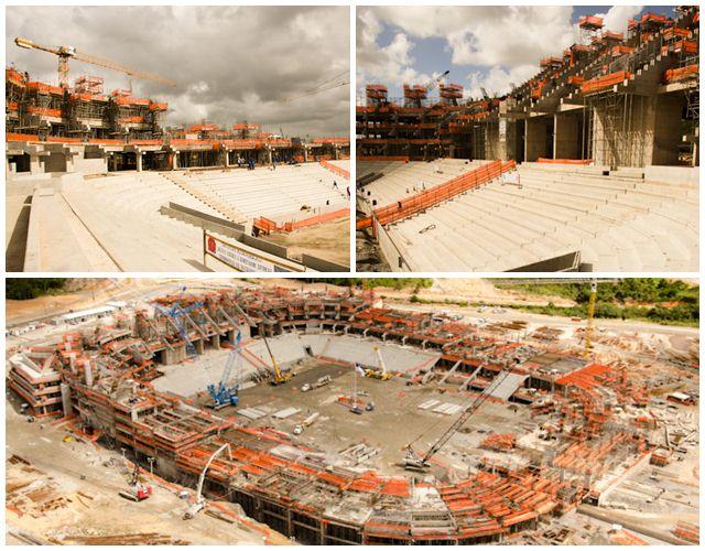 Situação das obras da Arena Pernambuco em julho de 2012