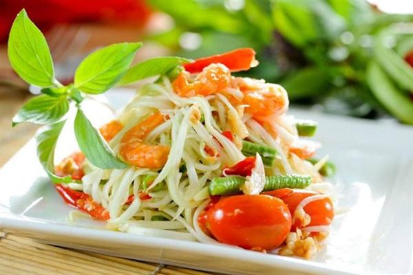 dat mua ve may bay di bangkok Salad Đu Đủ