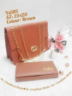 Paket Tas + Dompet dan jam Tangan, Hanya Rp.139 Ribu,