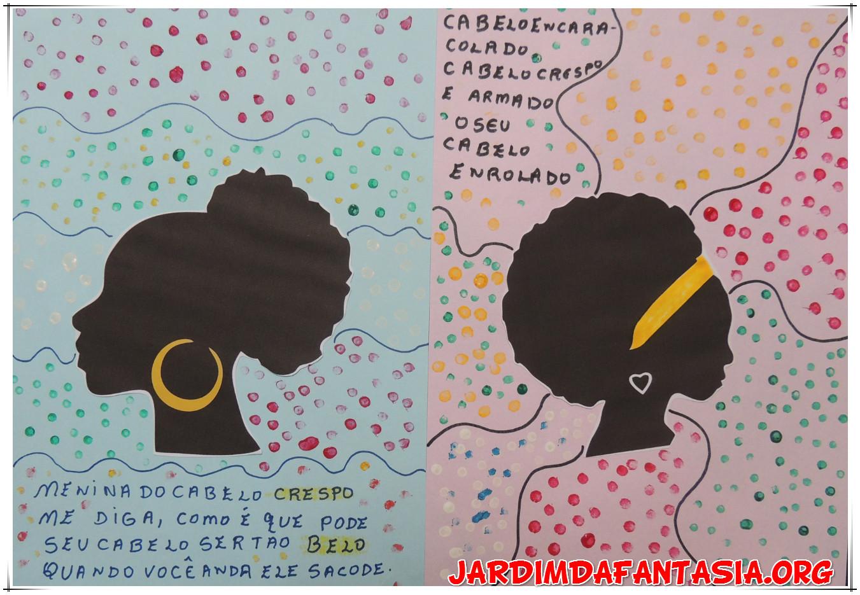 Famosos Atividades Jardim da Fantasia: Arte com silhueta e pontos Menina  WQ22