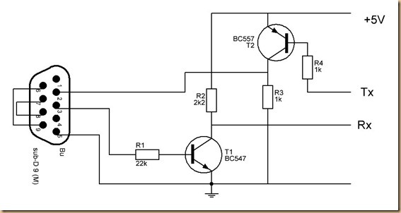 converter rs232 to arduino circuit diagram