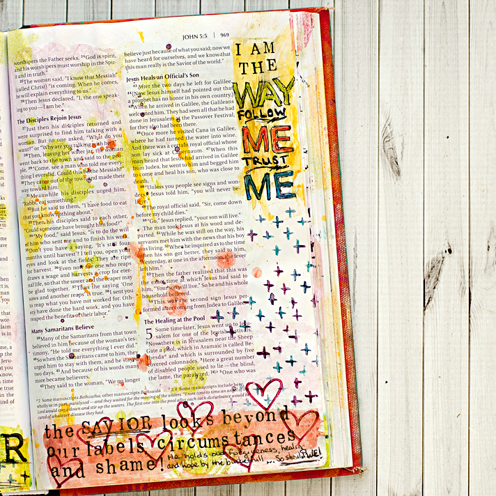 Art Worship Mixed Media Art Journaling Bible | Illustrated Faith | John 4