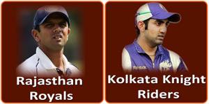 कोलकाता नाईट राईडर्स बनाम राजस्थान रौयल्स 3 मई 2013 को है।