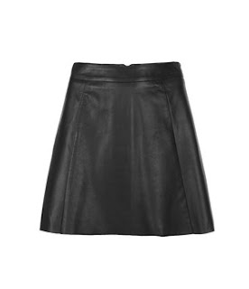 Ashley Tisdale, All Saints, Leather, Leather Skirt, Skater Mini Skirt, Seam Detailing, Pheris, Linen, Black, Grey, Striped, Cropped, T-shirt, tie-dye, Neckline Detail