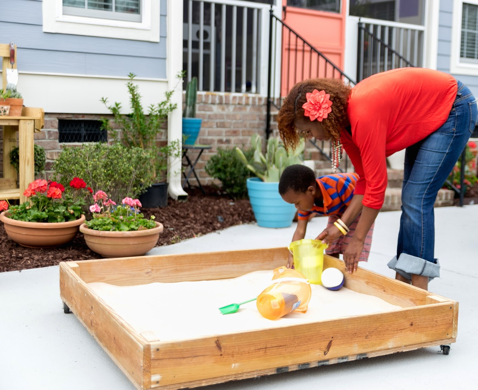 diy sandbox on wheels