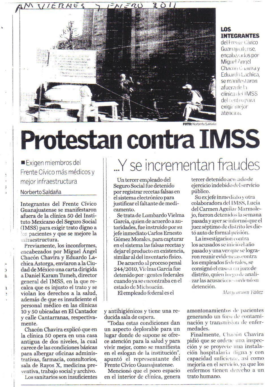 Movimiento Frente a IMSS