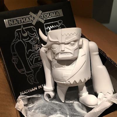 "Designer Con 2015 Exclusive ""Blank"" Kaiju Frankenstein Vinyl Figure by Nathan Hamill x Touma"