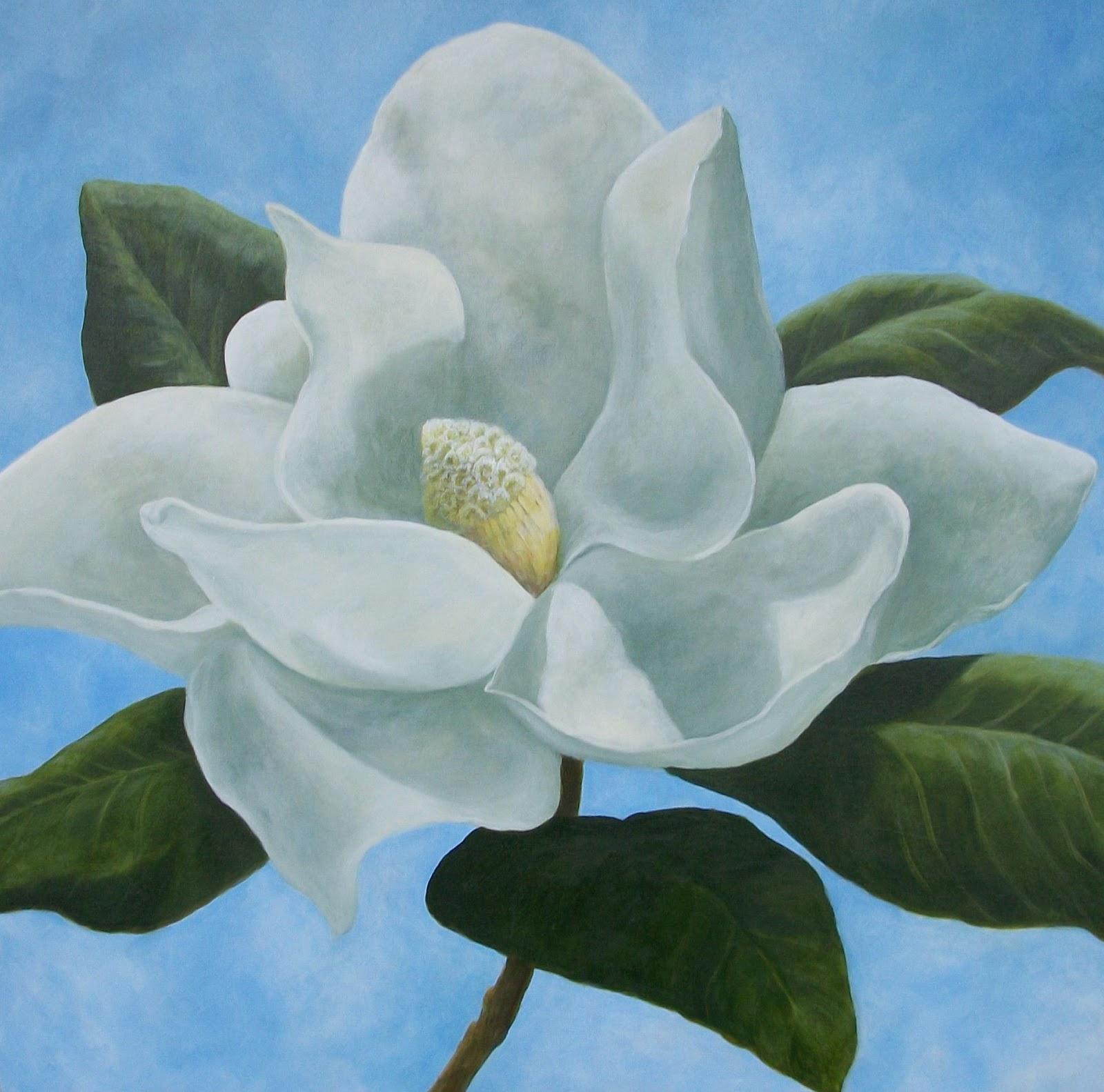 magnolia painting - photo #5