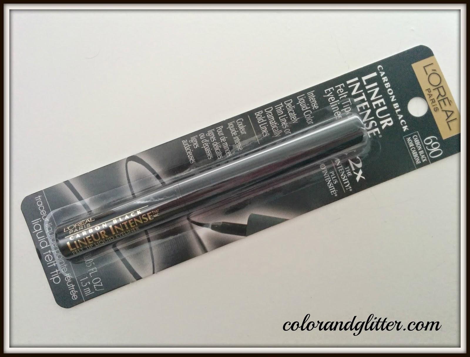L'Oréal Lineur Intense Felt Tip Eyeliner in Carbon Black