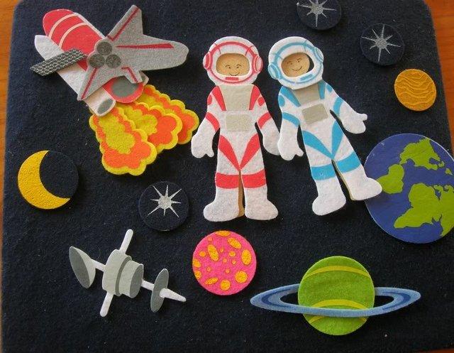 Аппликация на тему космос своими руками - Поделки